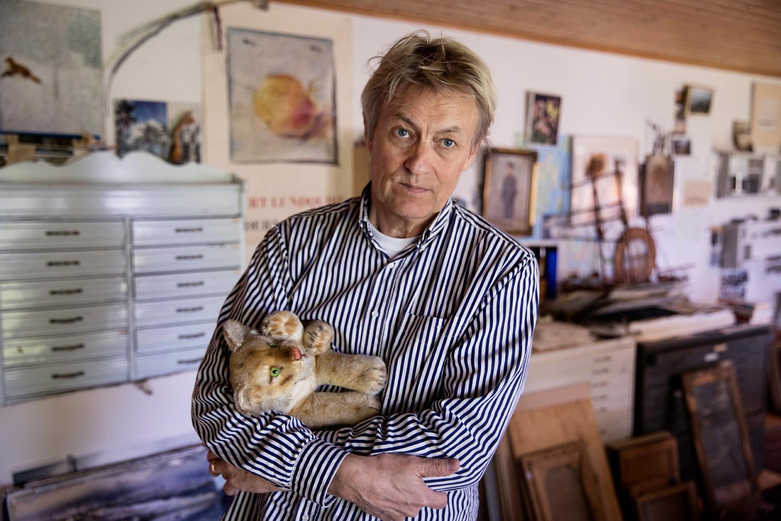 Lars Lerin, Sandagarund